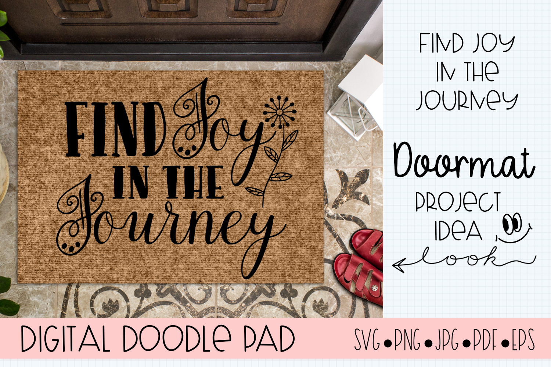 Inspirational SVG |Find Joy | Silhouette & Cricut Cut File example image 3