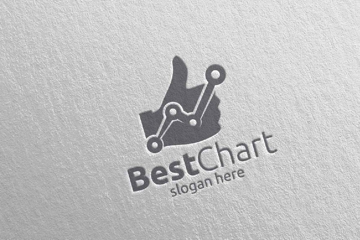 Best Chart Marketing Financial Advisor Logo Design 17 example image 5