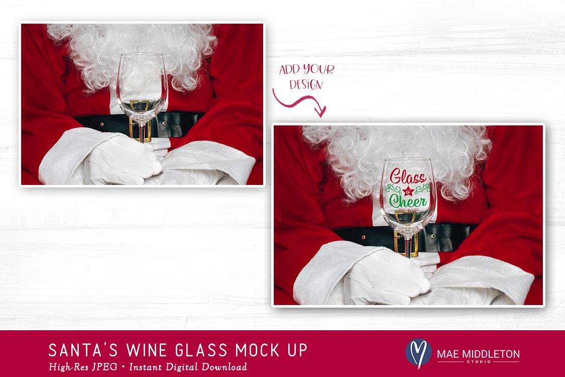 Santa's Wine Glass - Christmas Mock Up example image 2