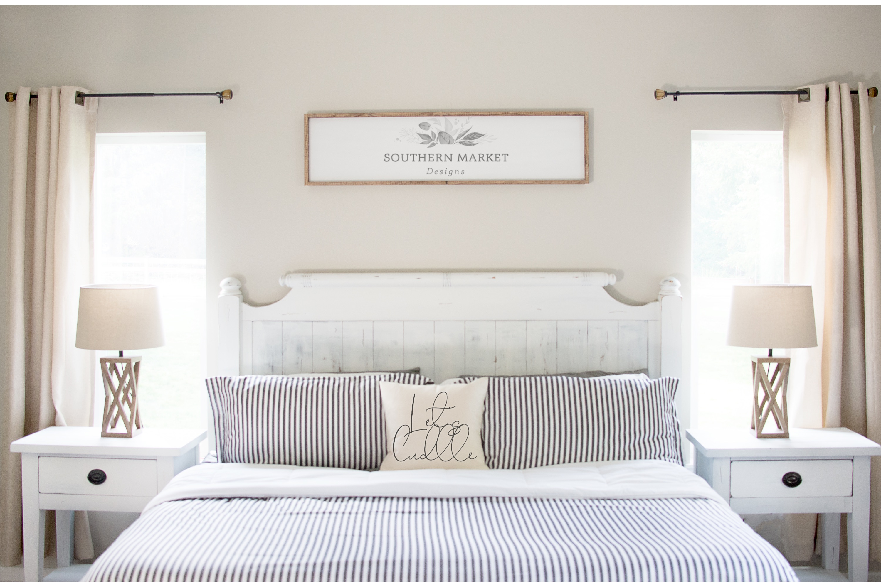 Bedroom Sign Mock Up Design Bundle Stock Photography example image 7
