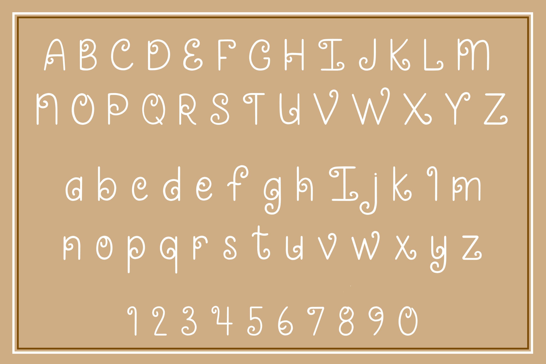 Caramel Swirl - A fun and swirly font example image 3