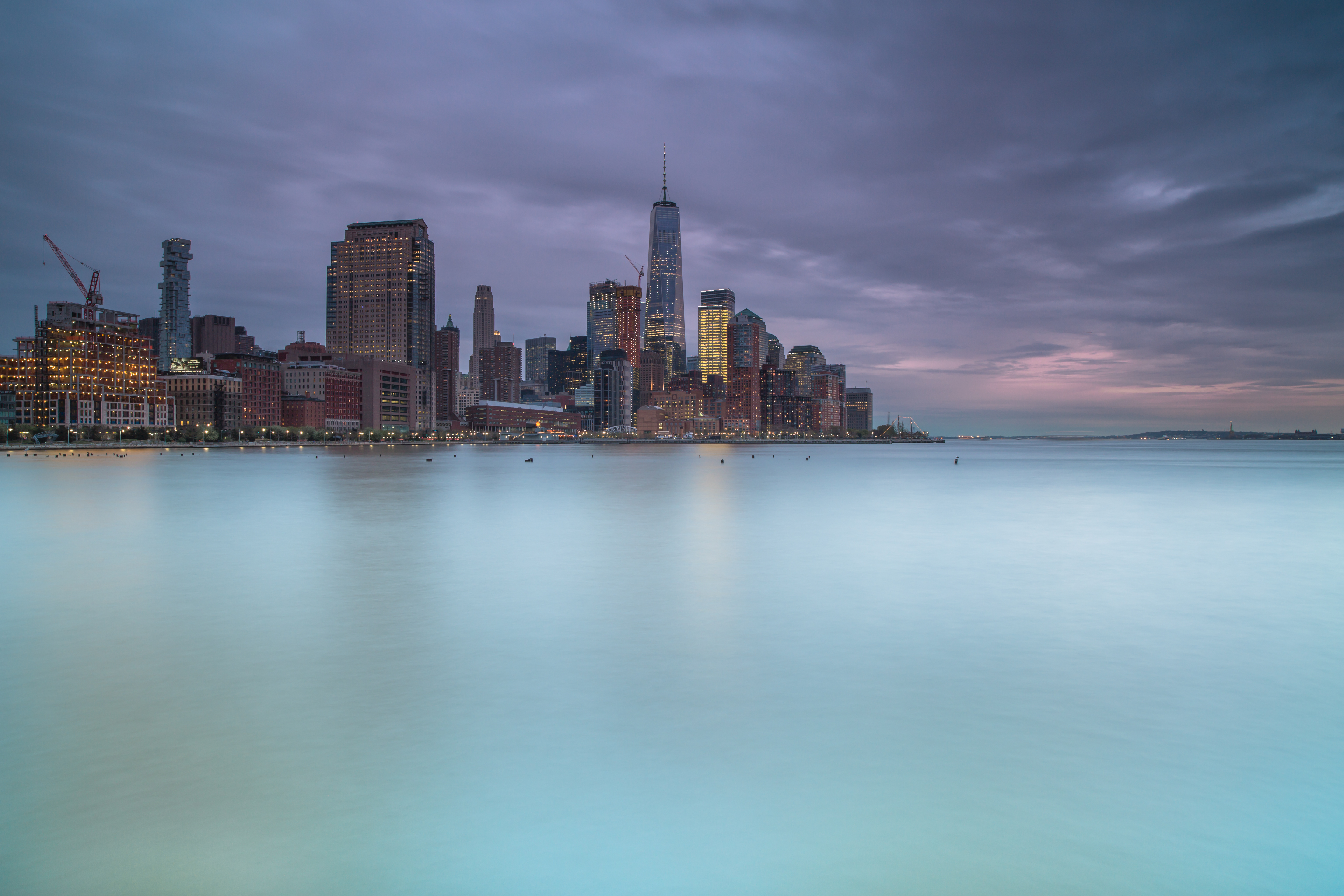 Downtown Manhattan view befor the storm	 example image 1