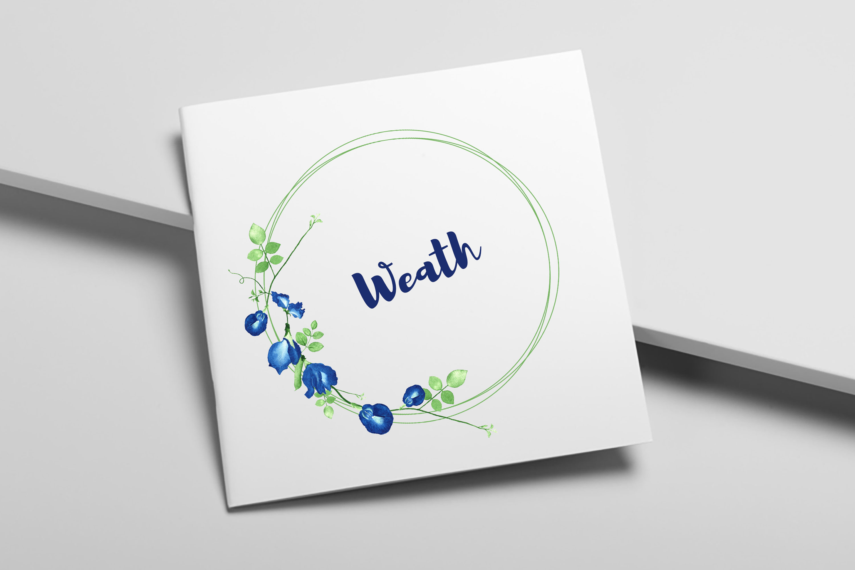 Elegant watercolor floral wreath and bouquet example image 6
