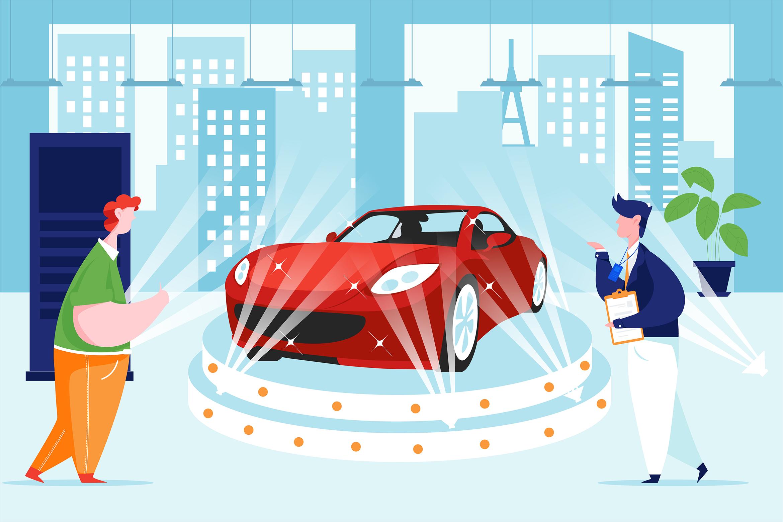 Car Dealership Vector Illustration Pack example image 11