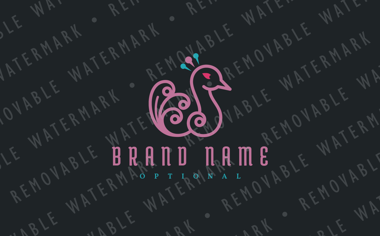 Peafowl Feathers Logo example image 3