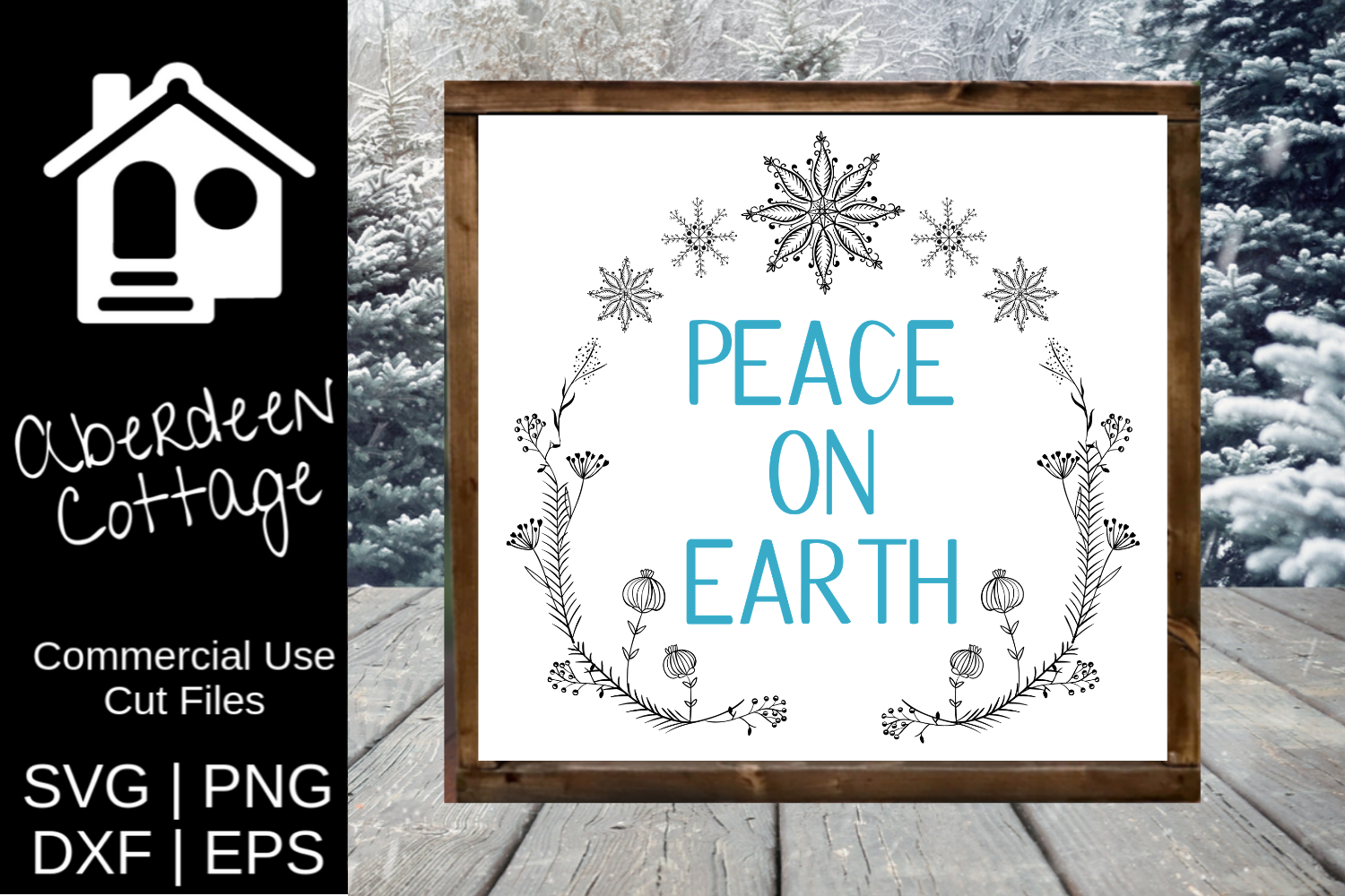 Peace On Earth 3 SVG | PNG | DXF | EPS example image 2