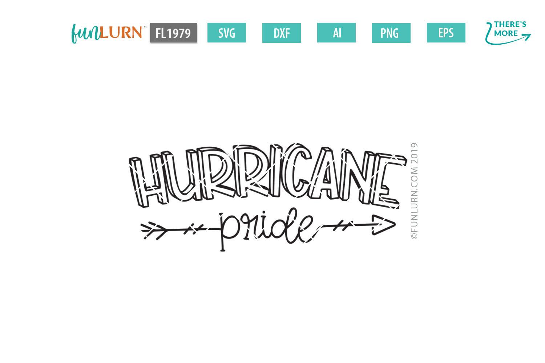 Hurricane Pride Team SVG Cut File example image 2