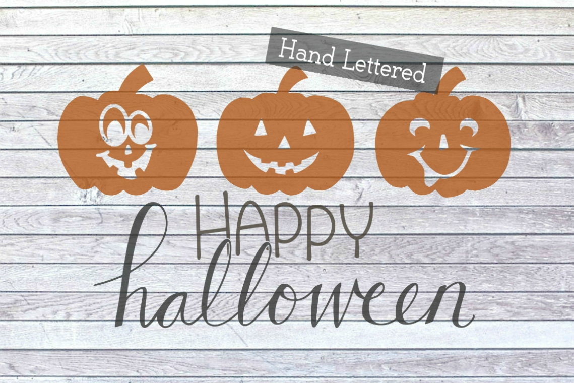 Happy Halloween Cute Pumpkin Front Porch Sign SVG PNG JPG example image 2