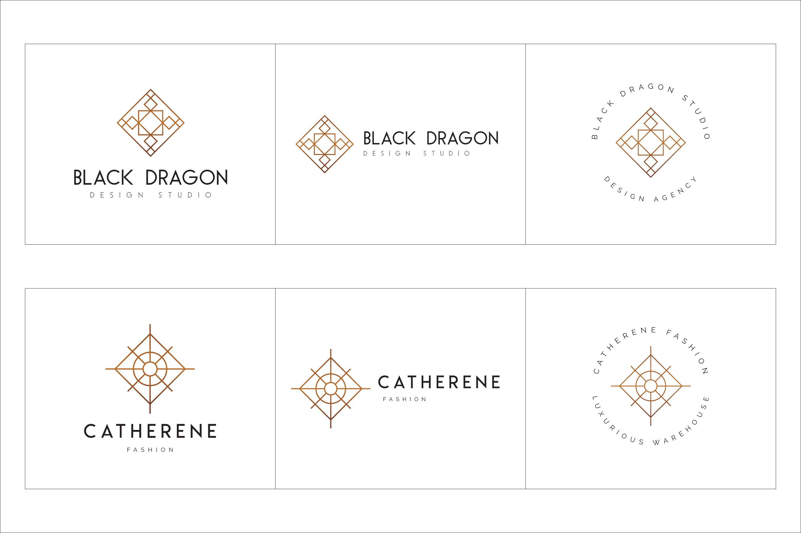 300 Geometric Premade Logo Bundle example image 19