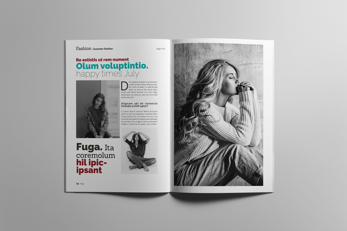 Magazine layout design example image 8