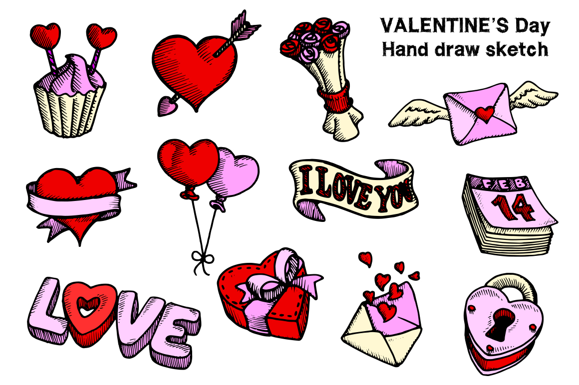 Valentine's Day Hand Draw example image 3