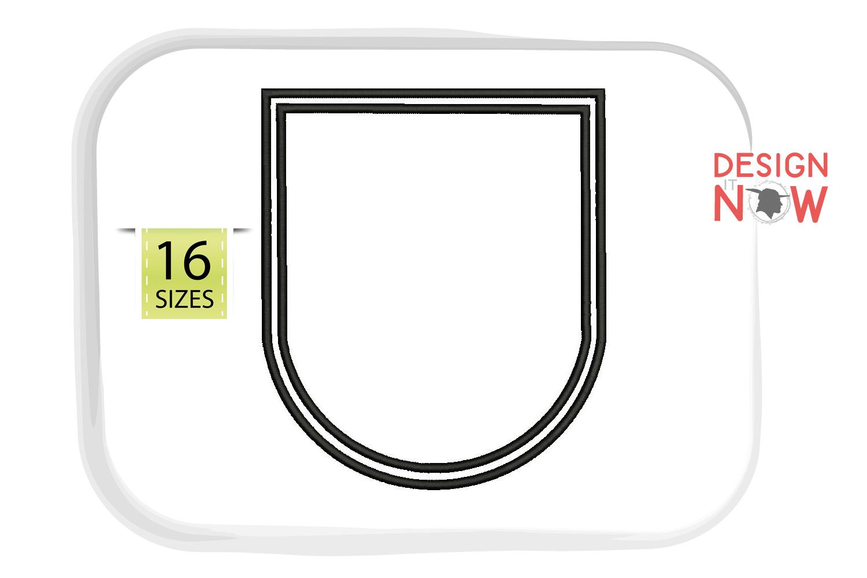 Frame Applique Design, Patch Embroidery, Monogram, Badge Art example image 1