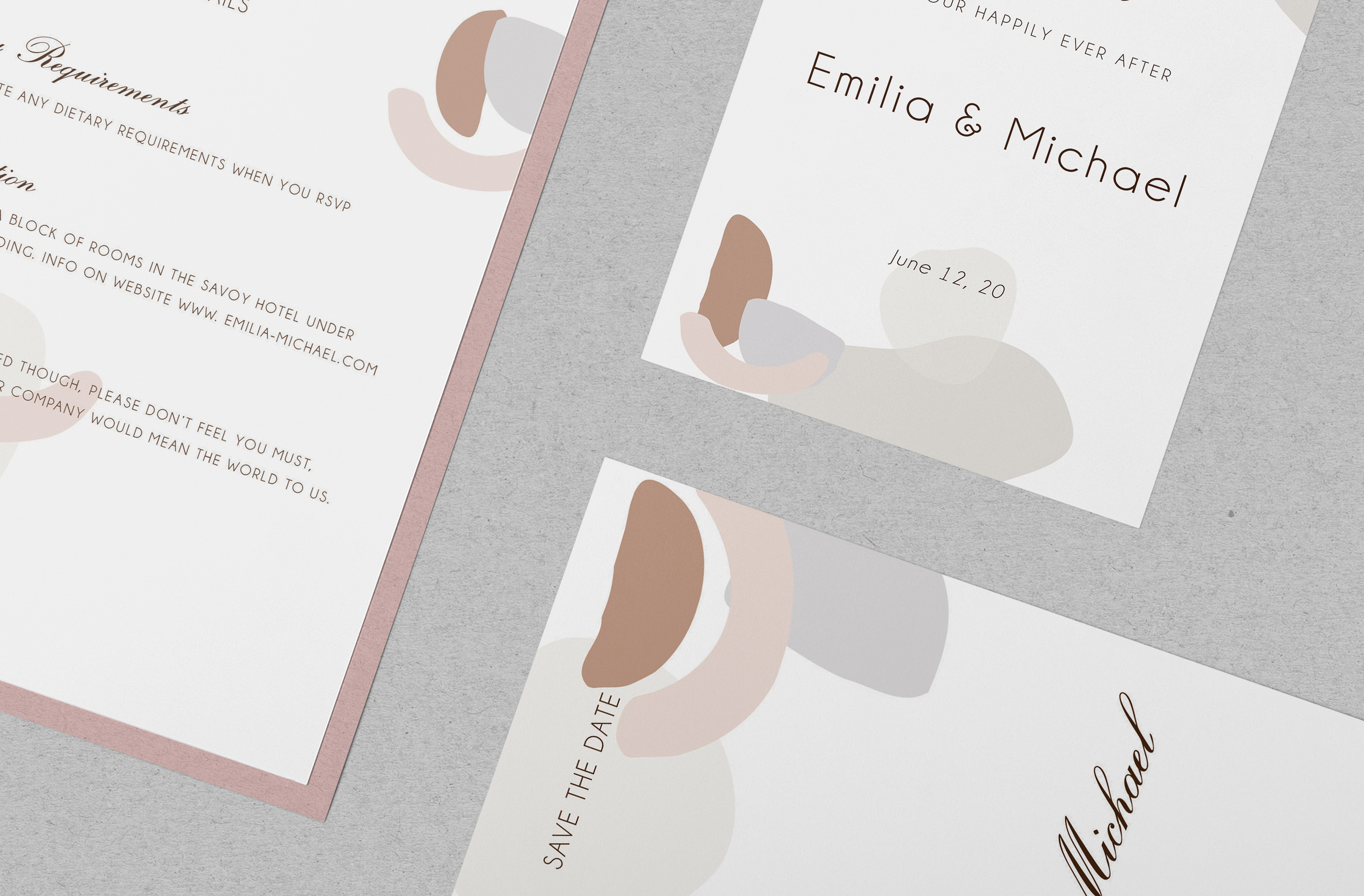 Abstract style Wedding Invitation Suite example image 11