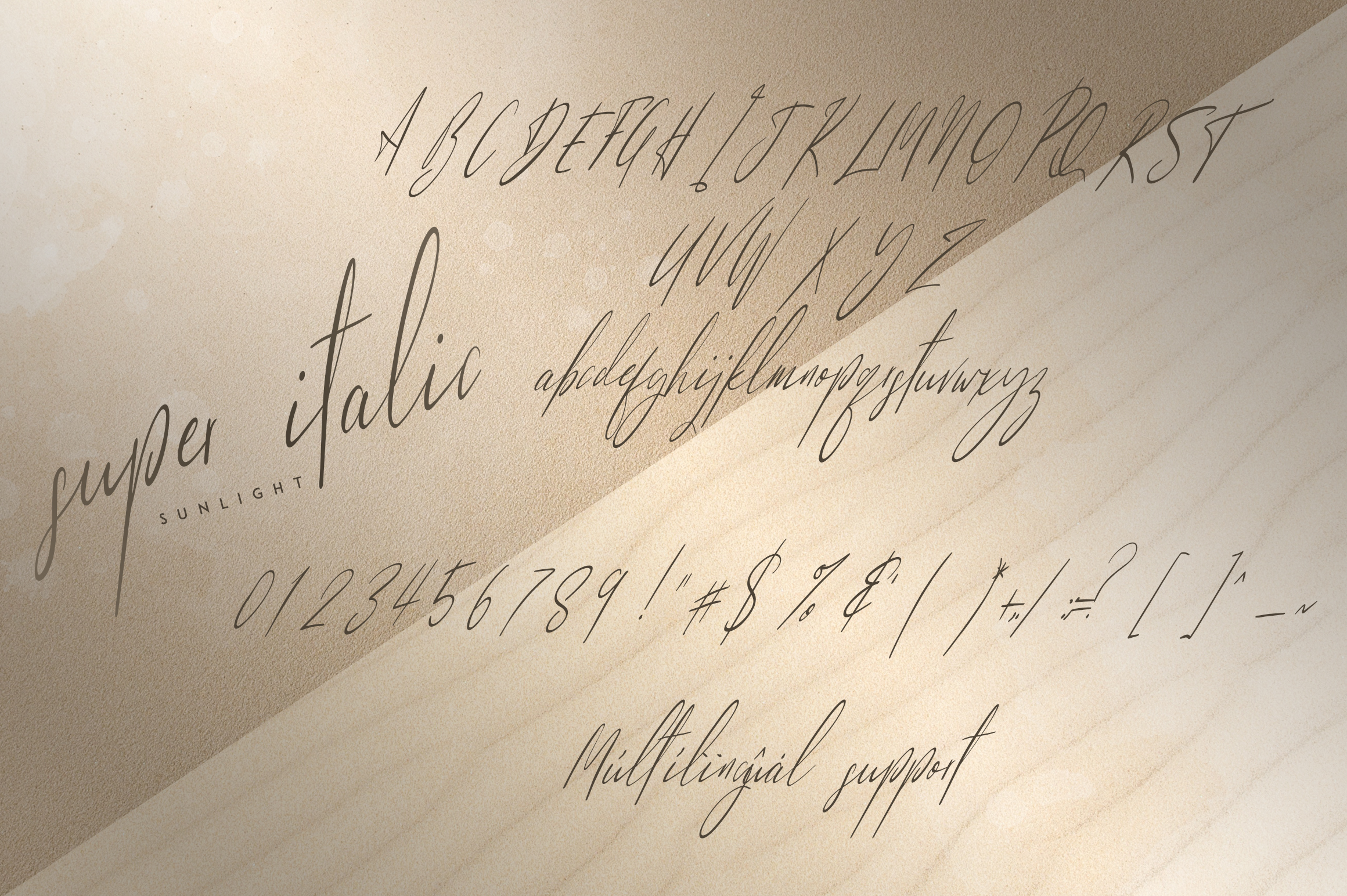 Sunlight - Signature typeface example image 11