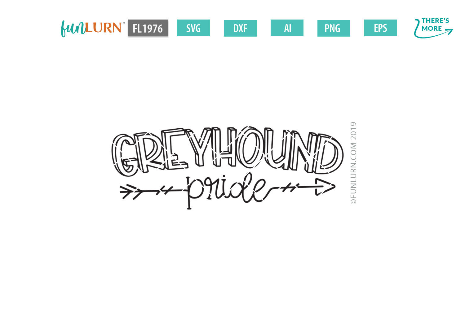Greyhound Pride Team SVG Cut File example image 2