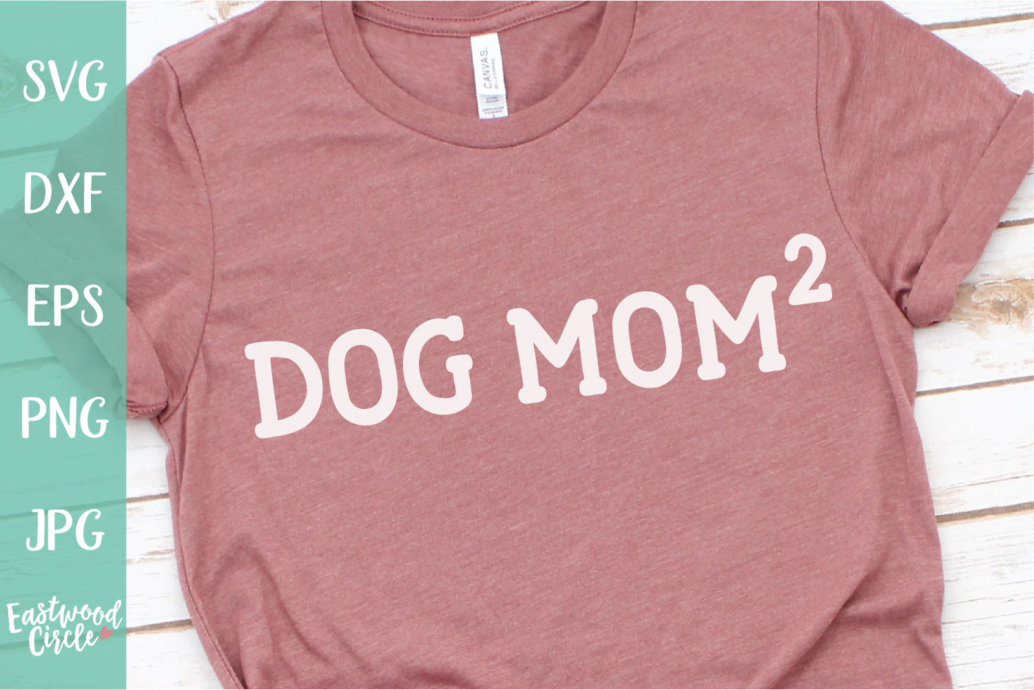 Dog Mom Squared - Dog SVG File for Crafters example image 1