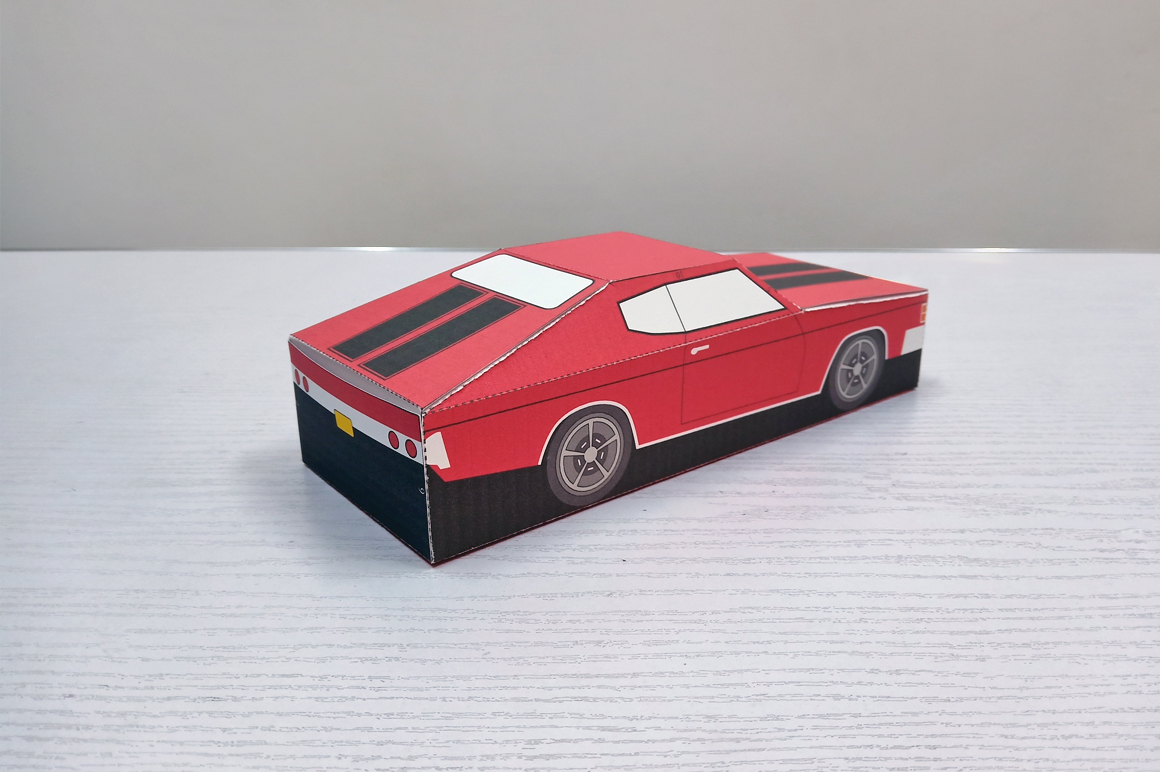 DIY Chevelle Car favor - 3d papercraft example image 8