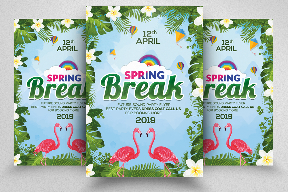 4 Spring Festival Flyers Bundle example image 4
