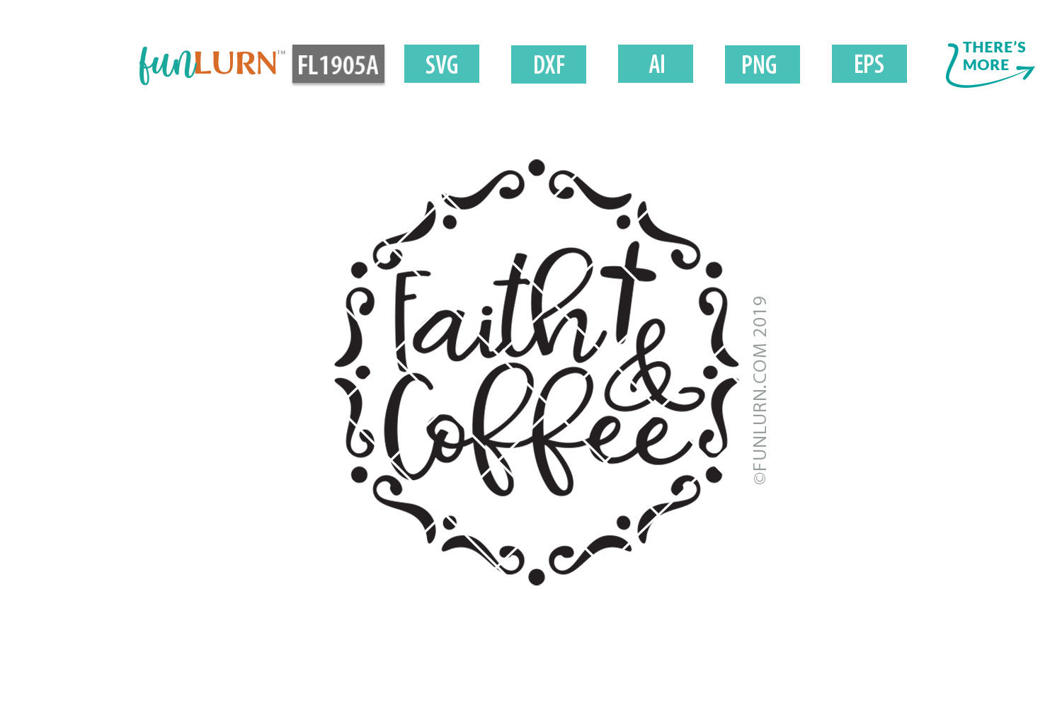 Faith and Coffee SVG Cut File example image 2