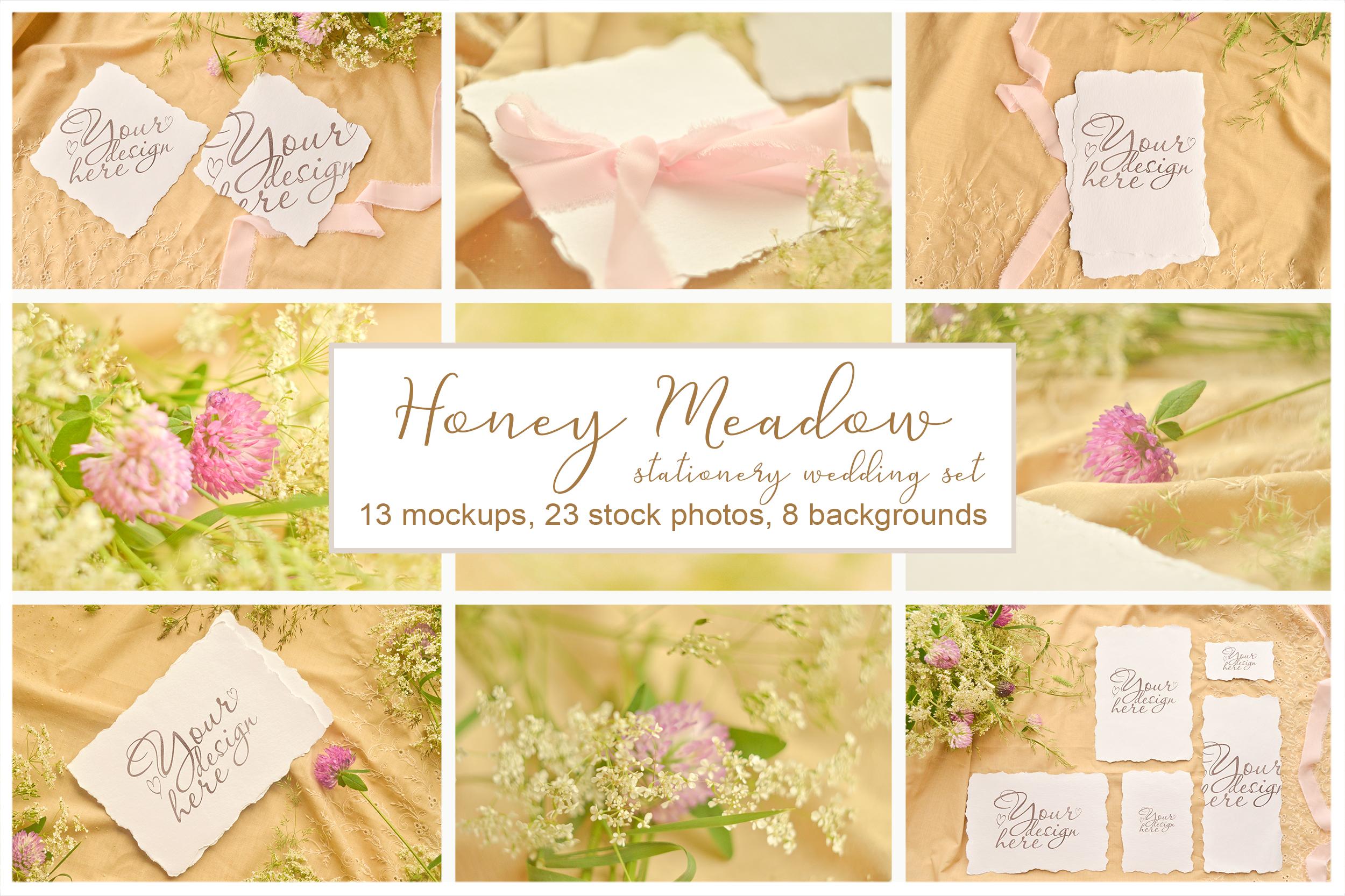 Honey Meadow. Wedding mockups & stock photo bundle example image 1