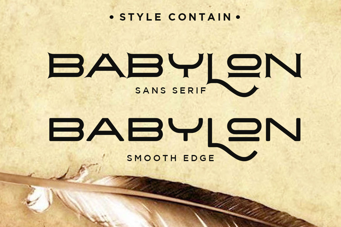 The Babylon Strong Typeface example image 7