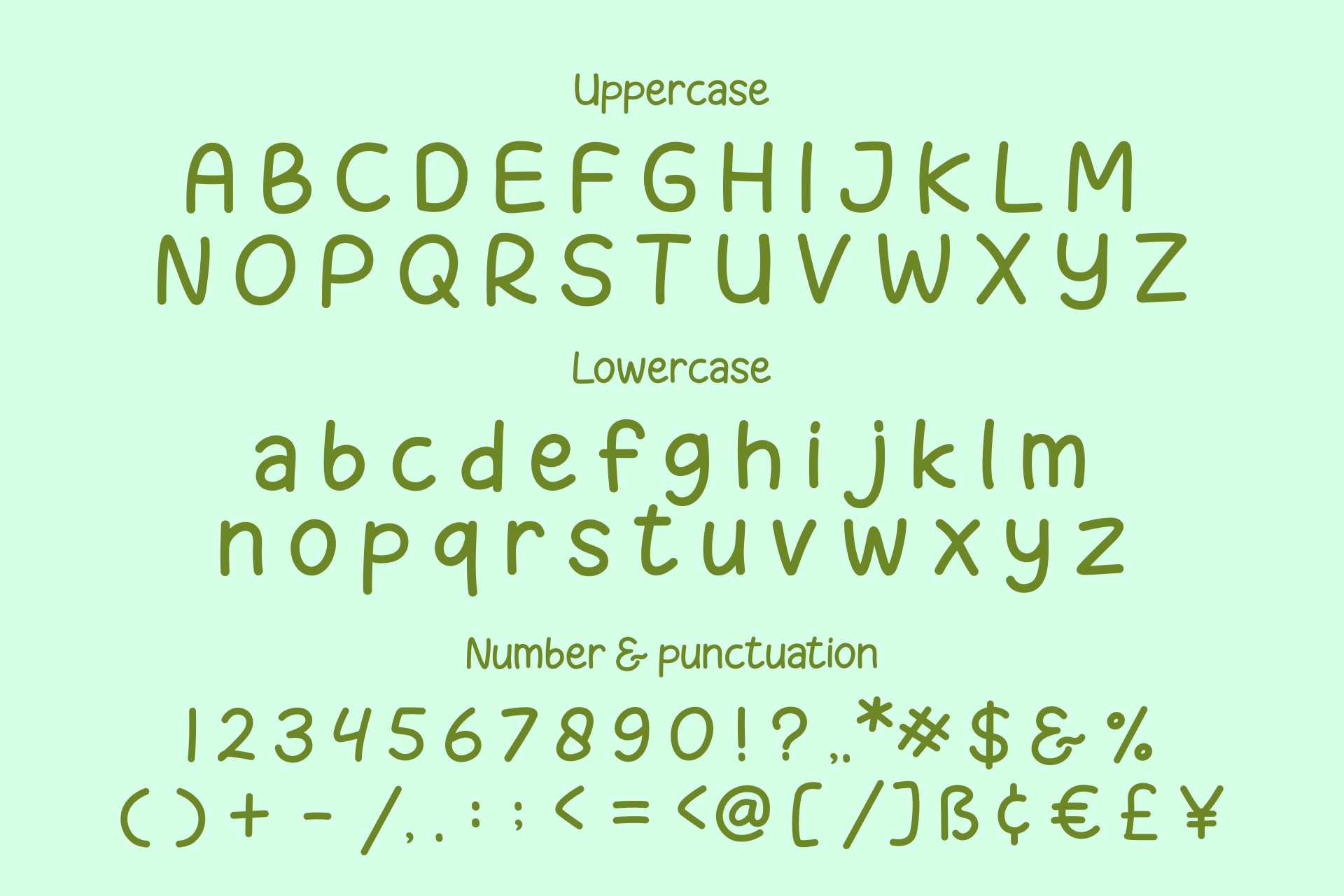 Melon Slices - a fun little font example image 6