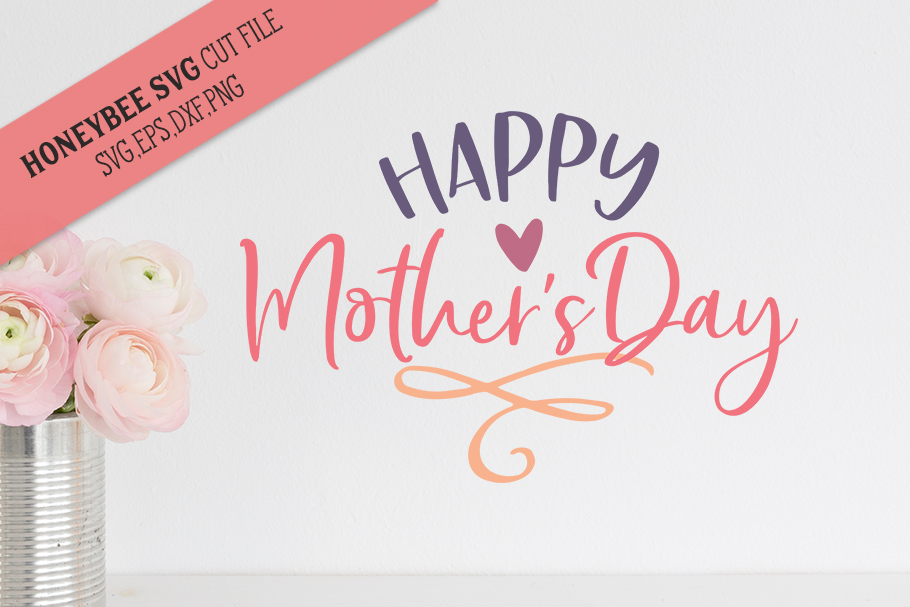 Happy Mother's Day Cute SVG Cut File example image 1