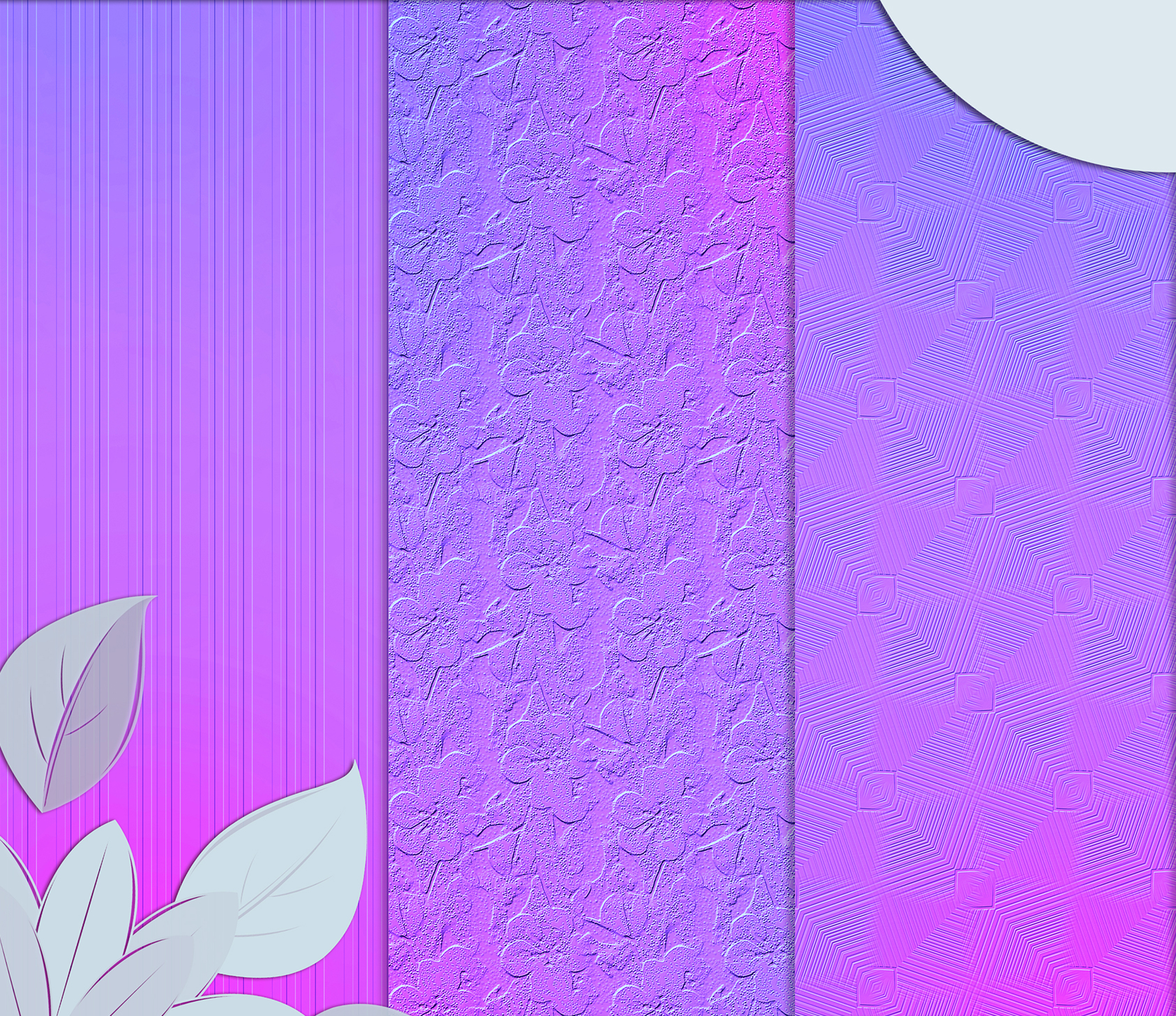 Purple-blue abstract textures, Digital Scrapbook Paper example image 5