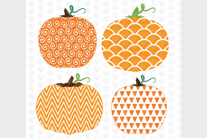 Big Halloween Bundle - 12 Decorative Pumpkin SVG EPS DXF PNG example image 2