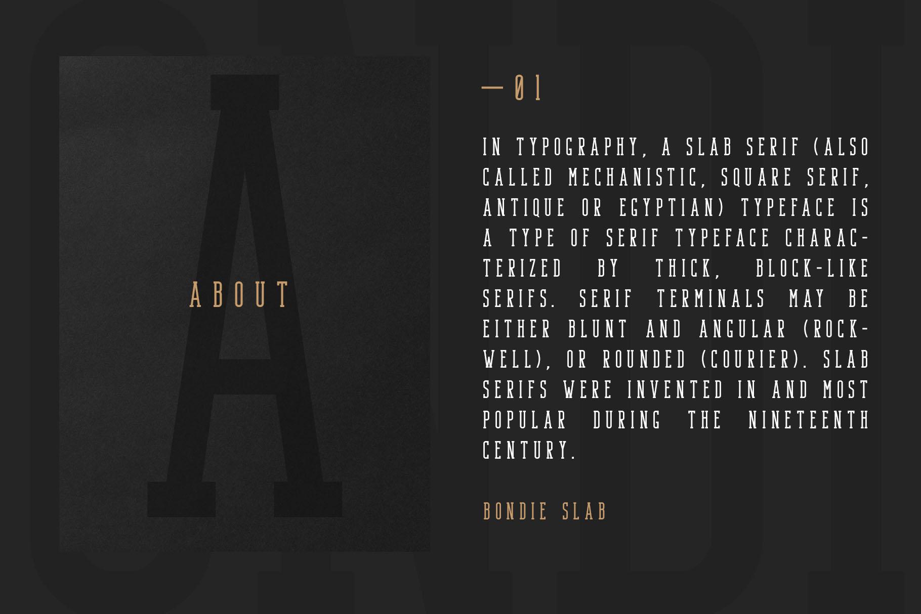 Bondie - Condensed Slab Serif Font example image 3