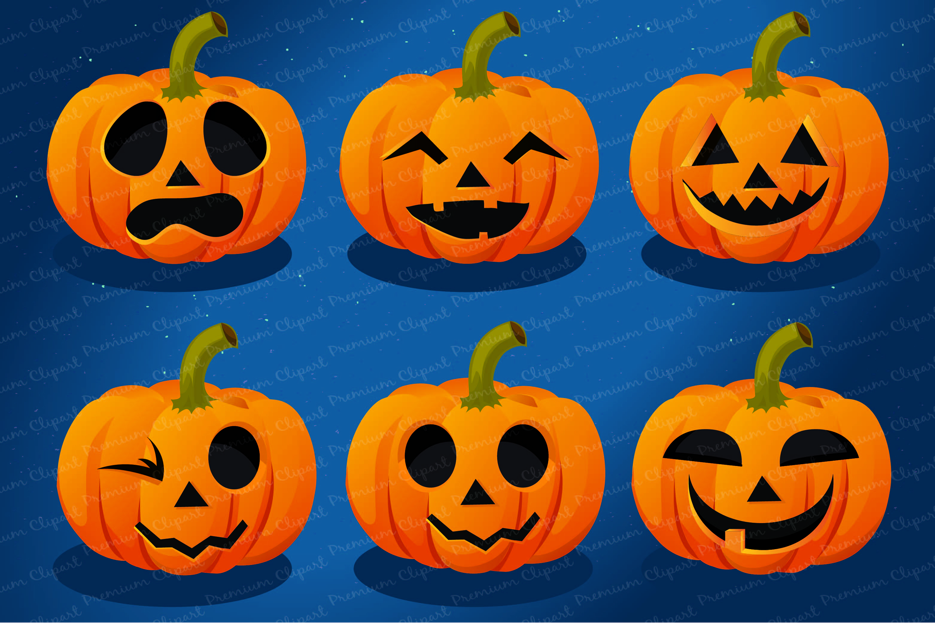 Halloween bundle, Halloween illustrations, Halloween pumpkin example image 8