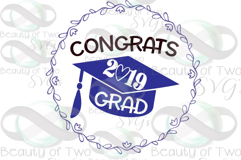 2019 Grad svg and png, Congrats 2019 Graduate svg example image 3