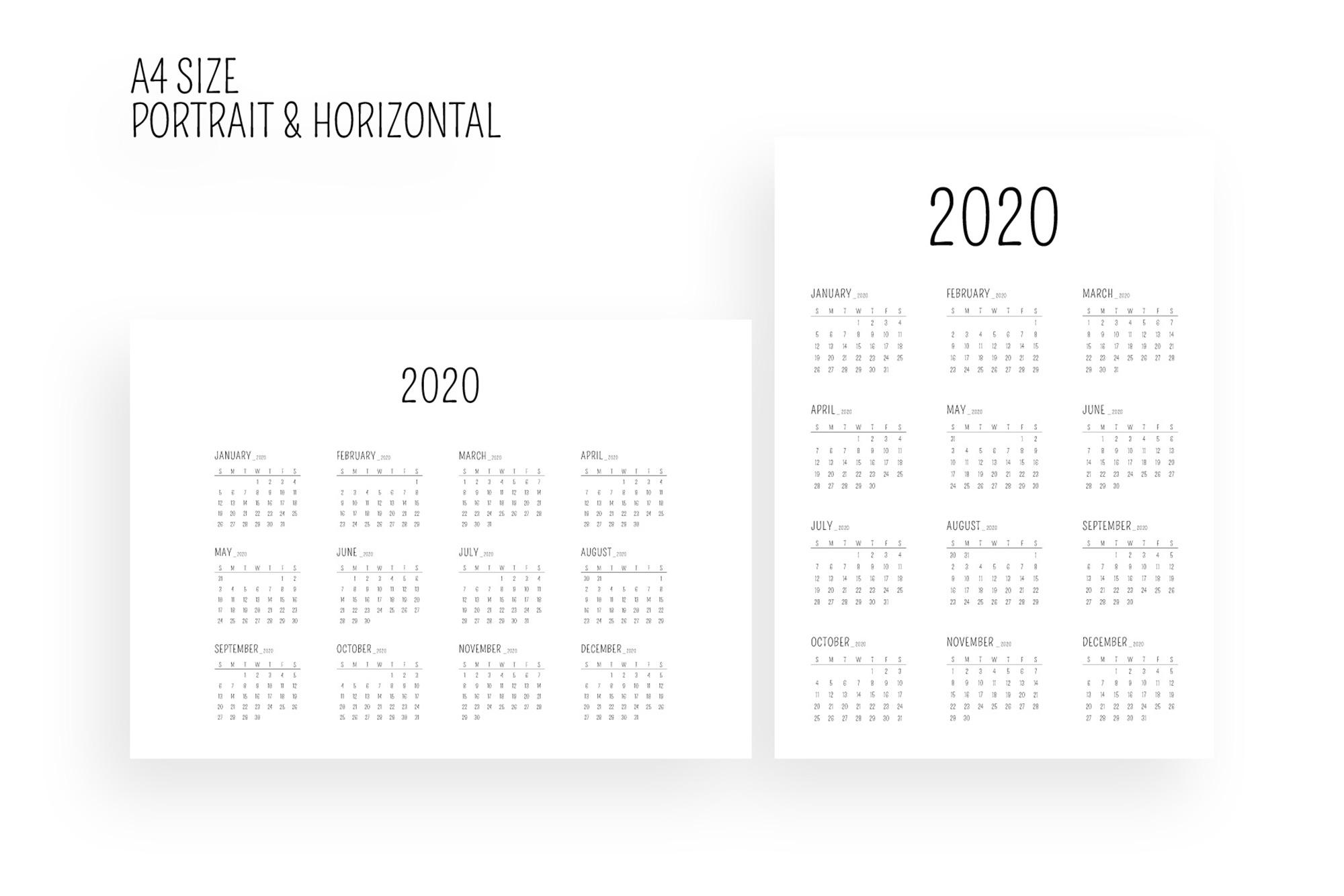 Minimal Calendar 2020 Template example image 5