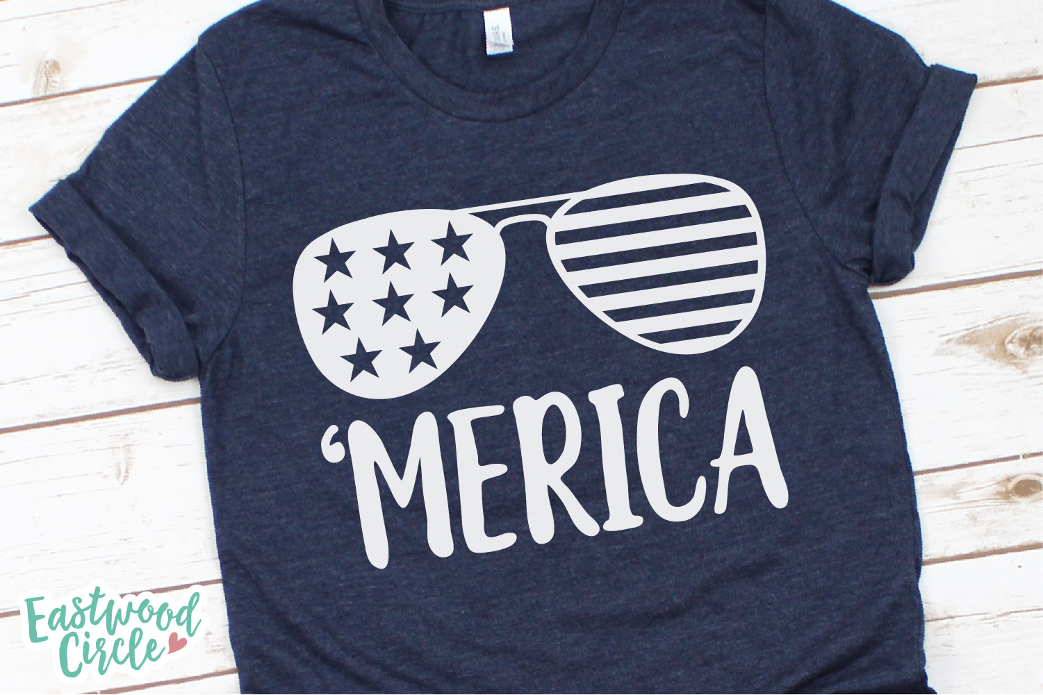 Merica Sunglasses - A 4th of July SVG Cut File example image 2