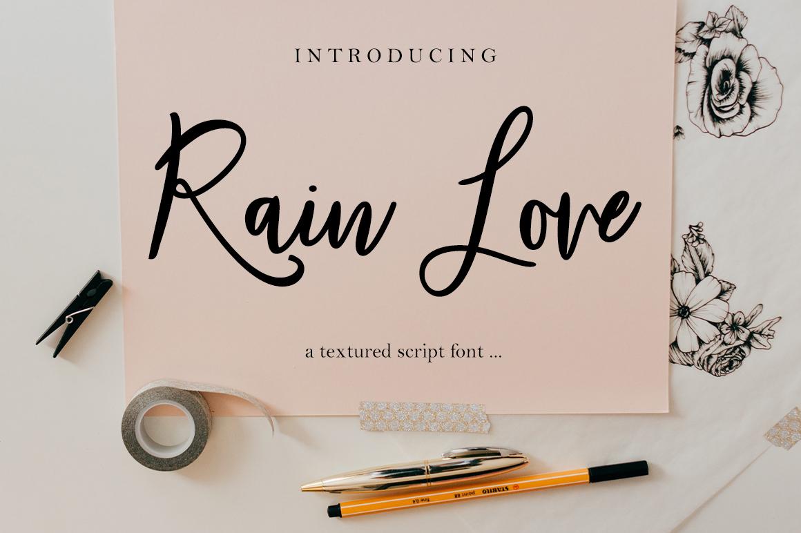 Rain Love Script example image 1
