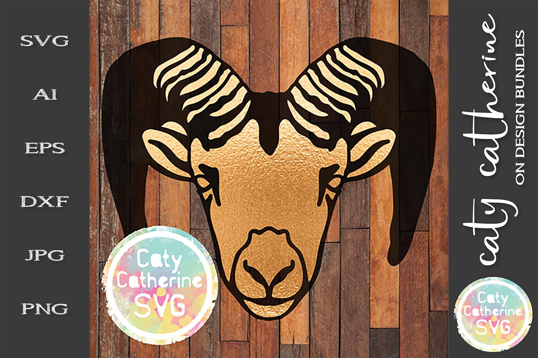 Ram Aries SVG Zodiac Cut File example image 1