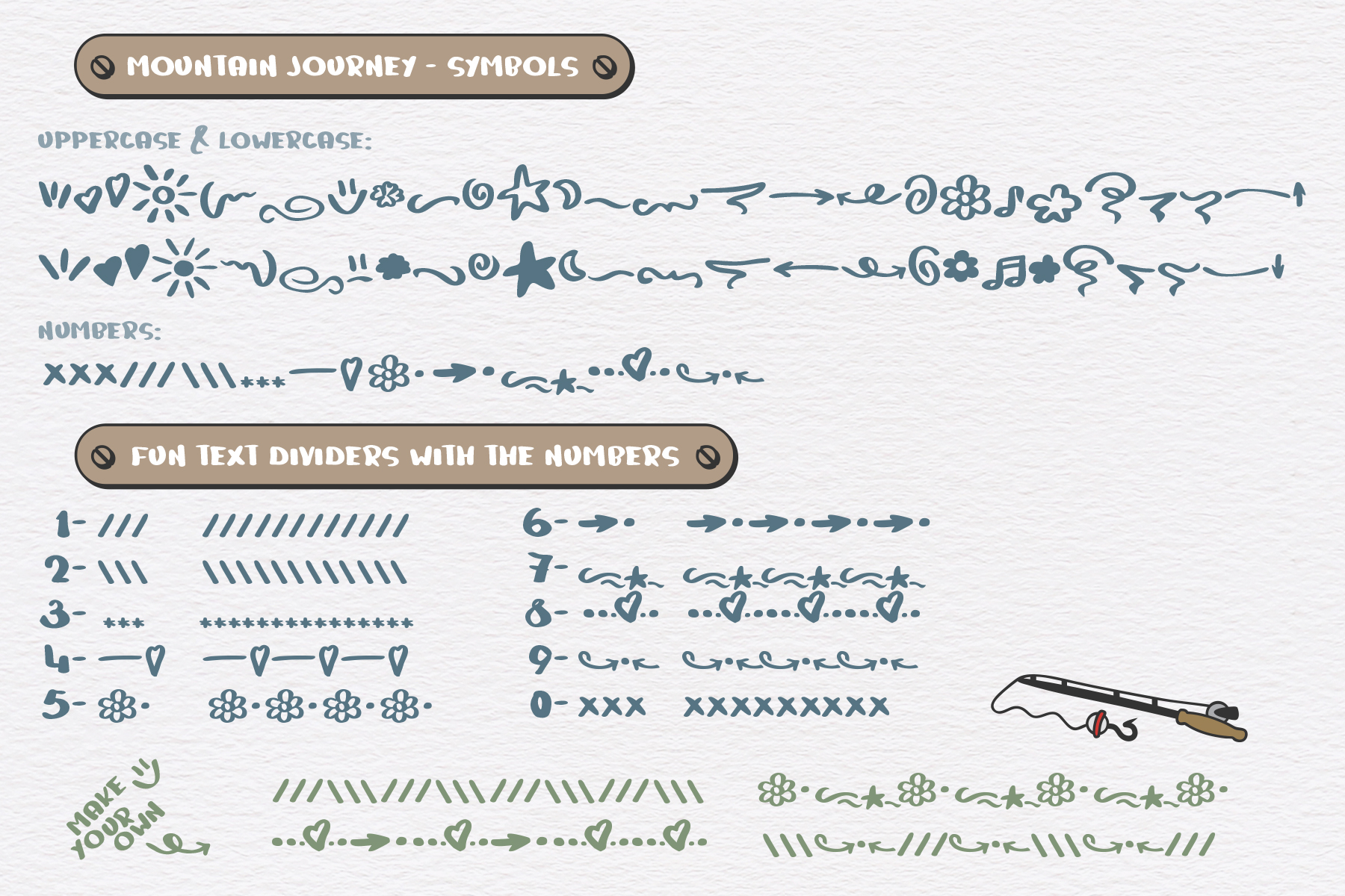 Mountain Journey - a Fun Font Duo example image 4