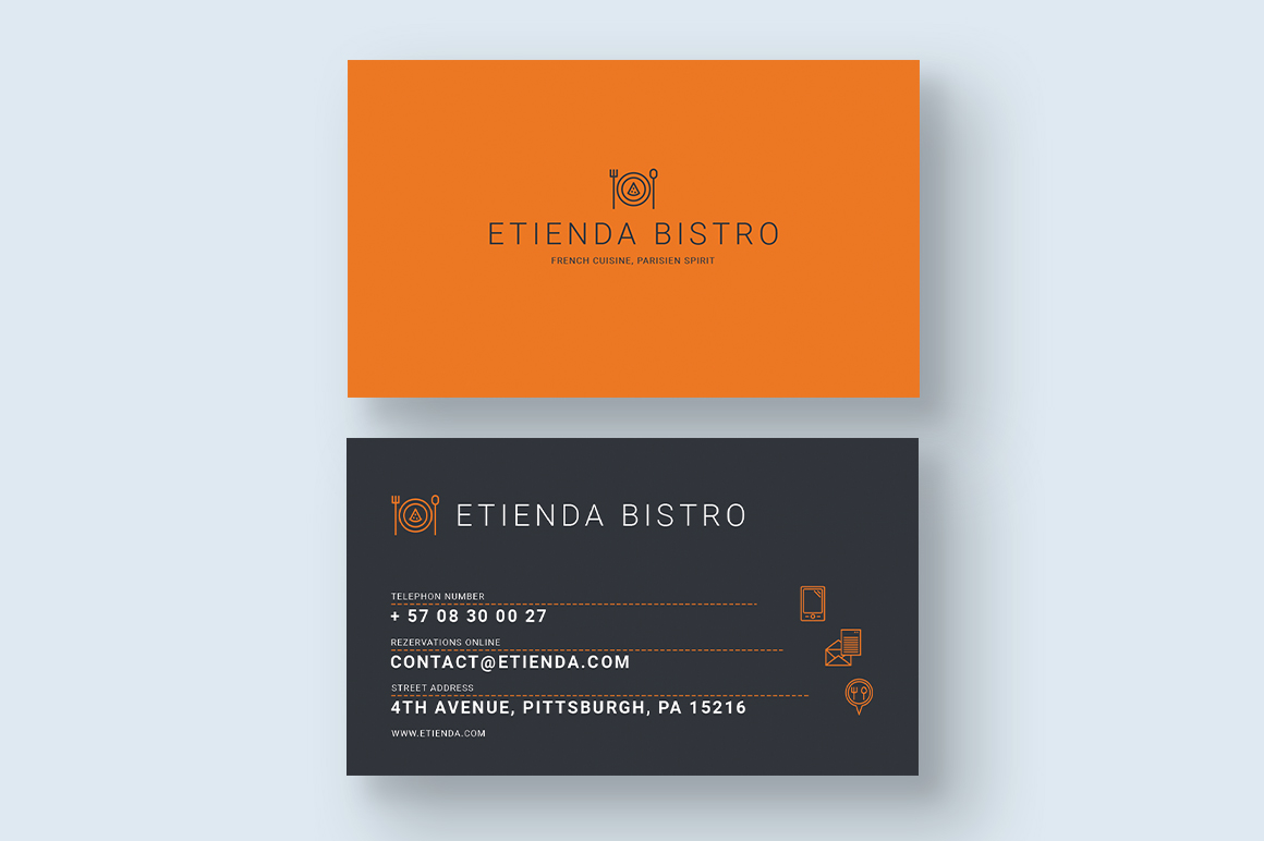French Bistro Business Card example image 2