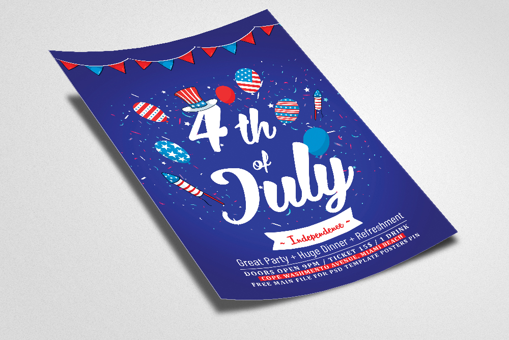 4th of July Independence Day Flyer example image 2