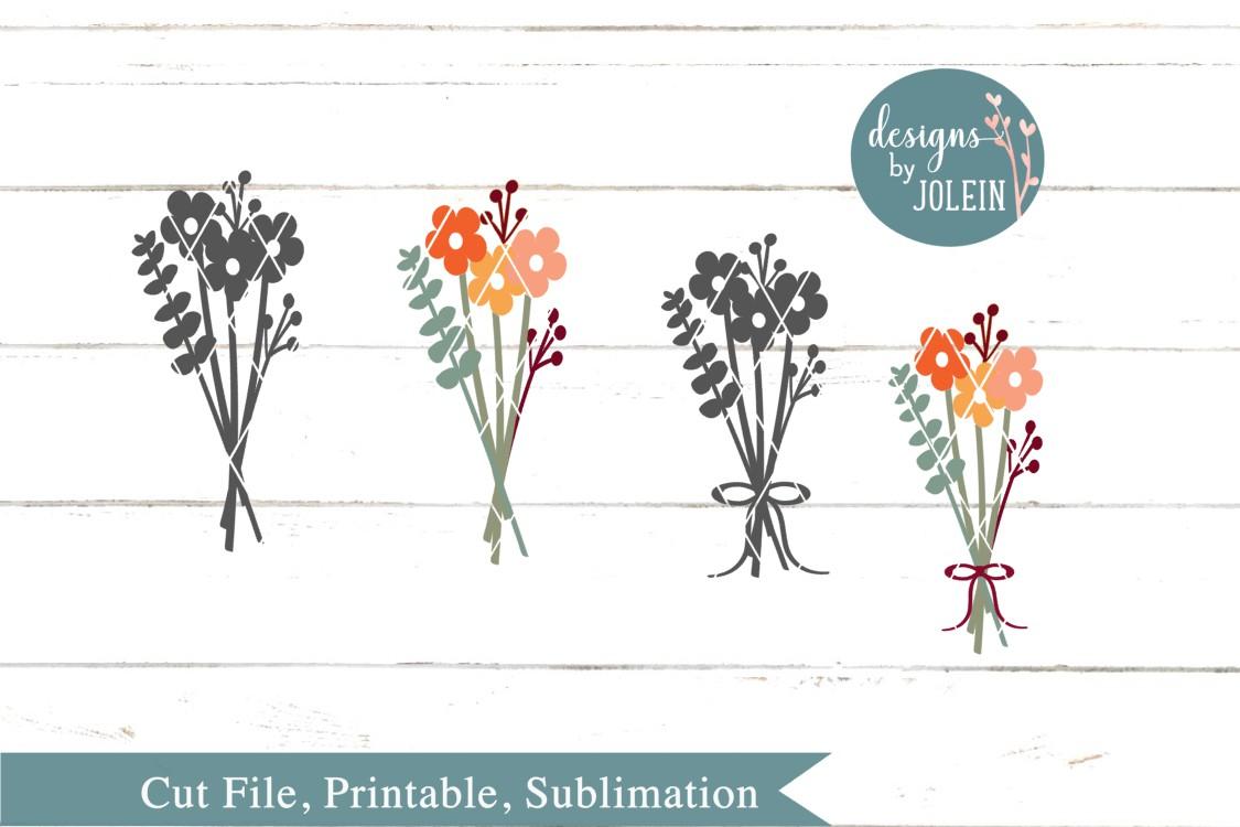 Autumn Floral Bouquet SVG, png, eps, sublimation, dxf, jpeg example image 3