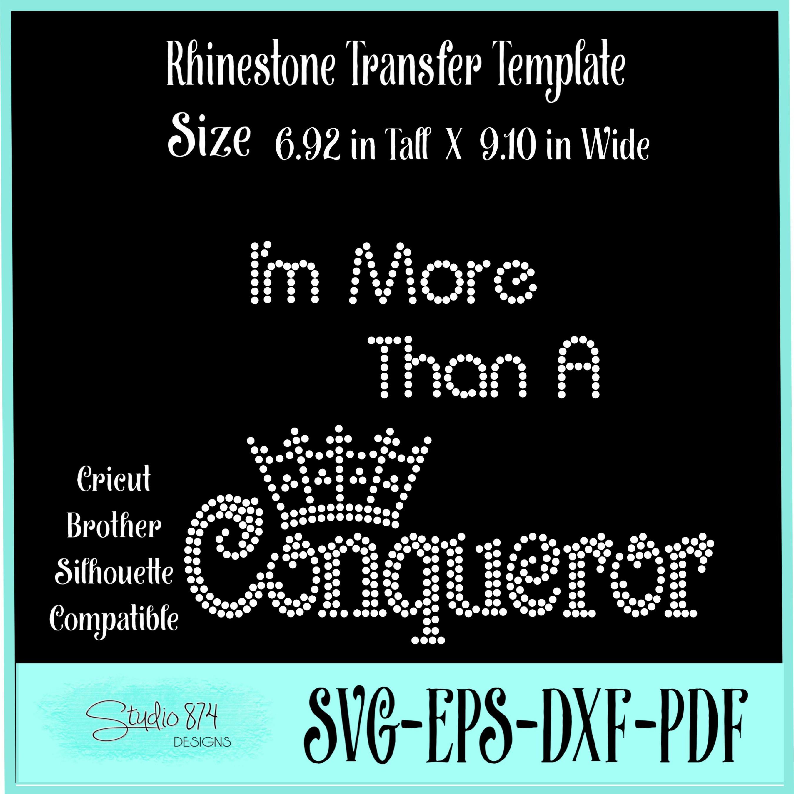 Faith Religious Rhinestone SVG Template - Conqueror example image 2