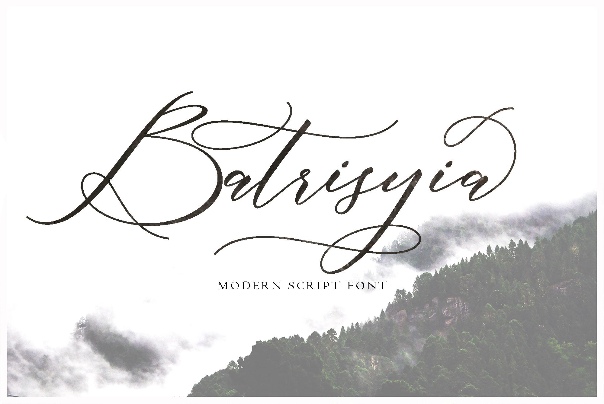 Batrisyia Script example image 1