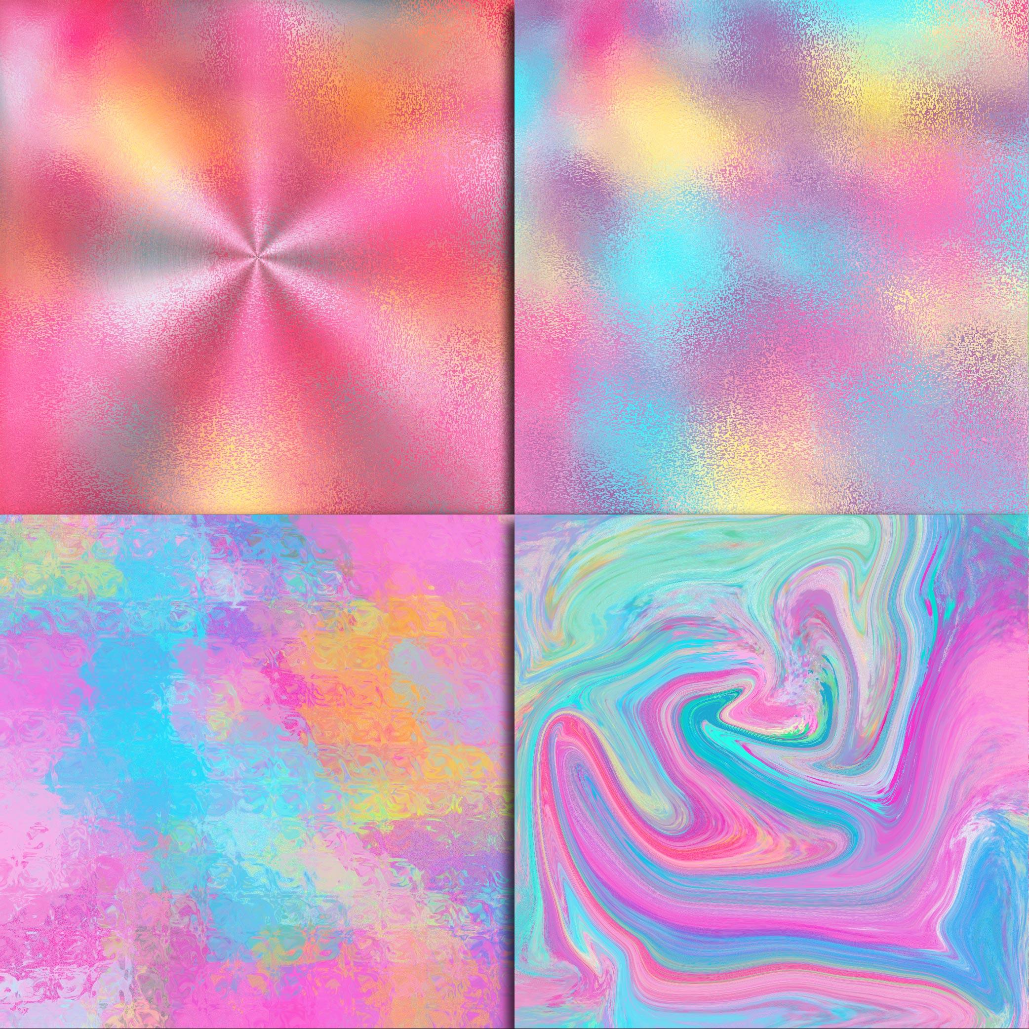 Unicorn Textures Digital Paper example image 4