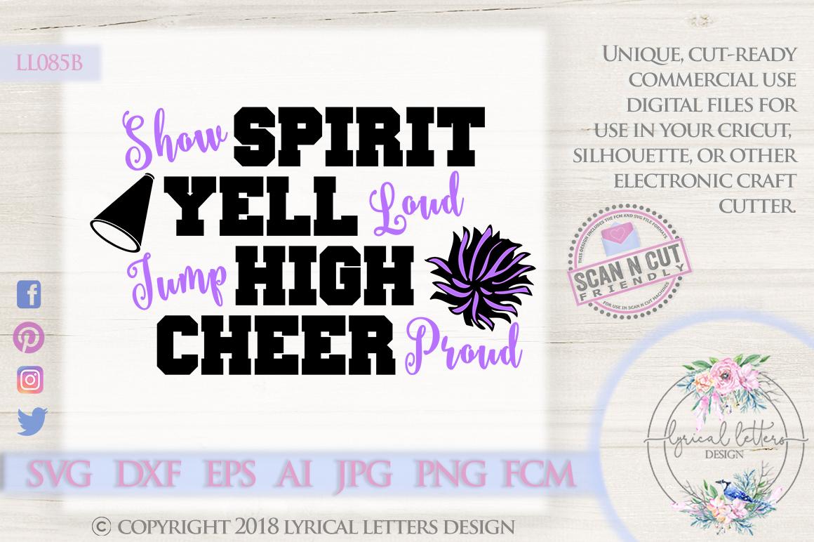 Cheer Proud Cheerleader SVG DXF Cut File LL085B example image 1