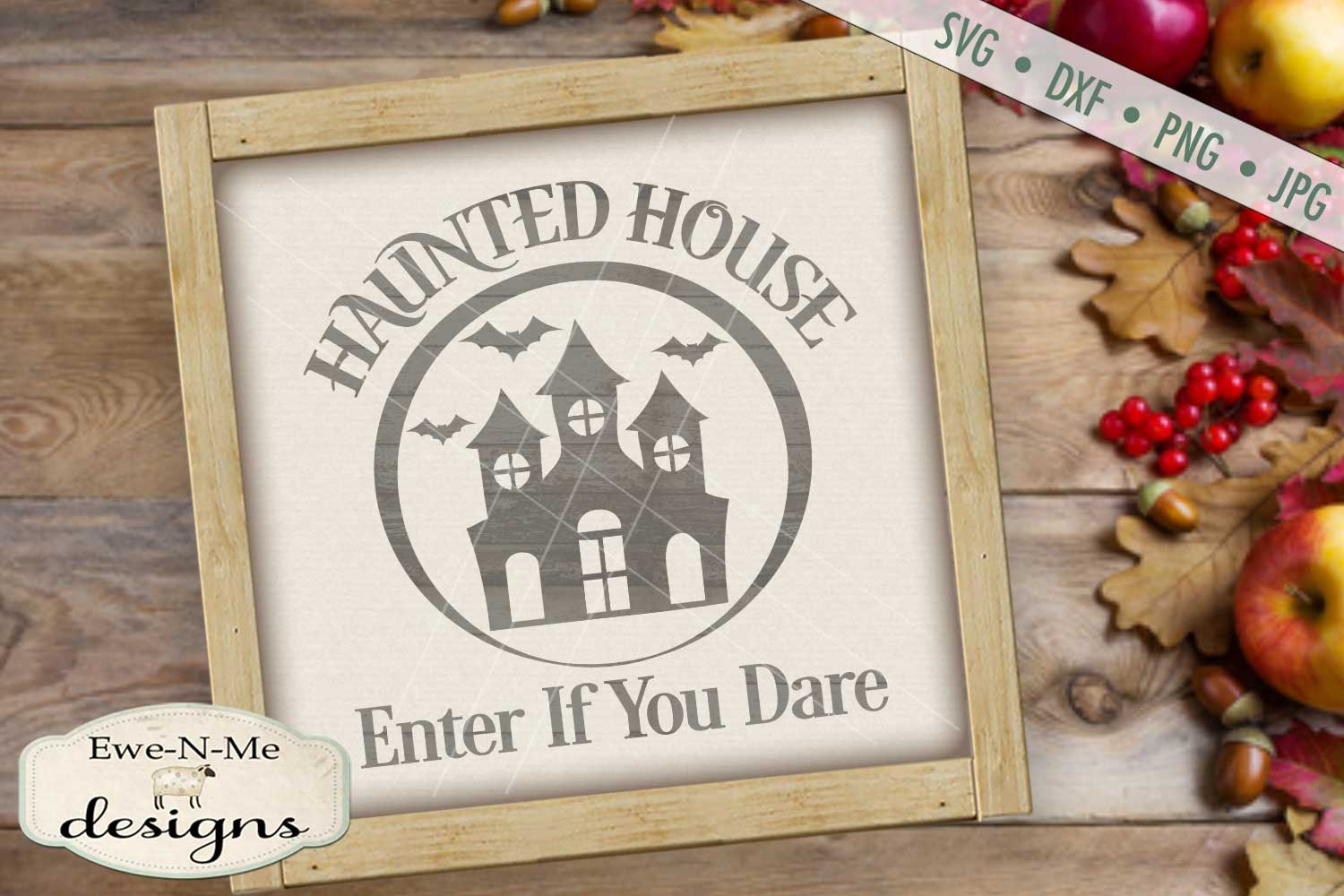 Haunted House Enter If You Dare SVG DXF Files example image 1