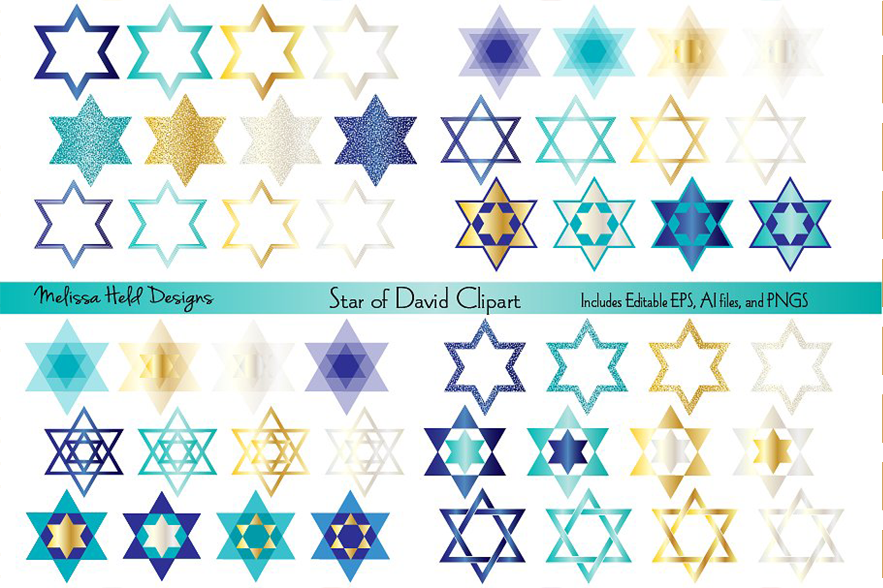 Star of David Clipart example image 1