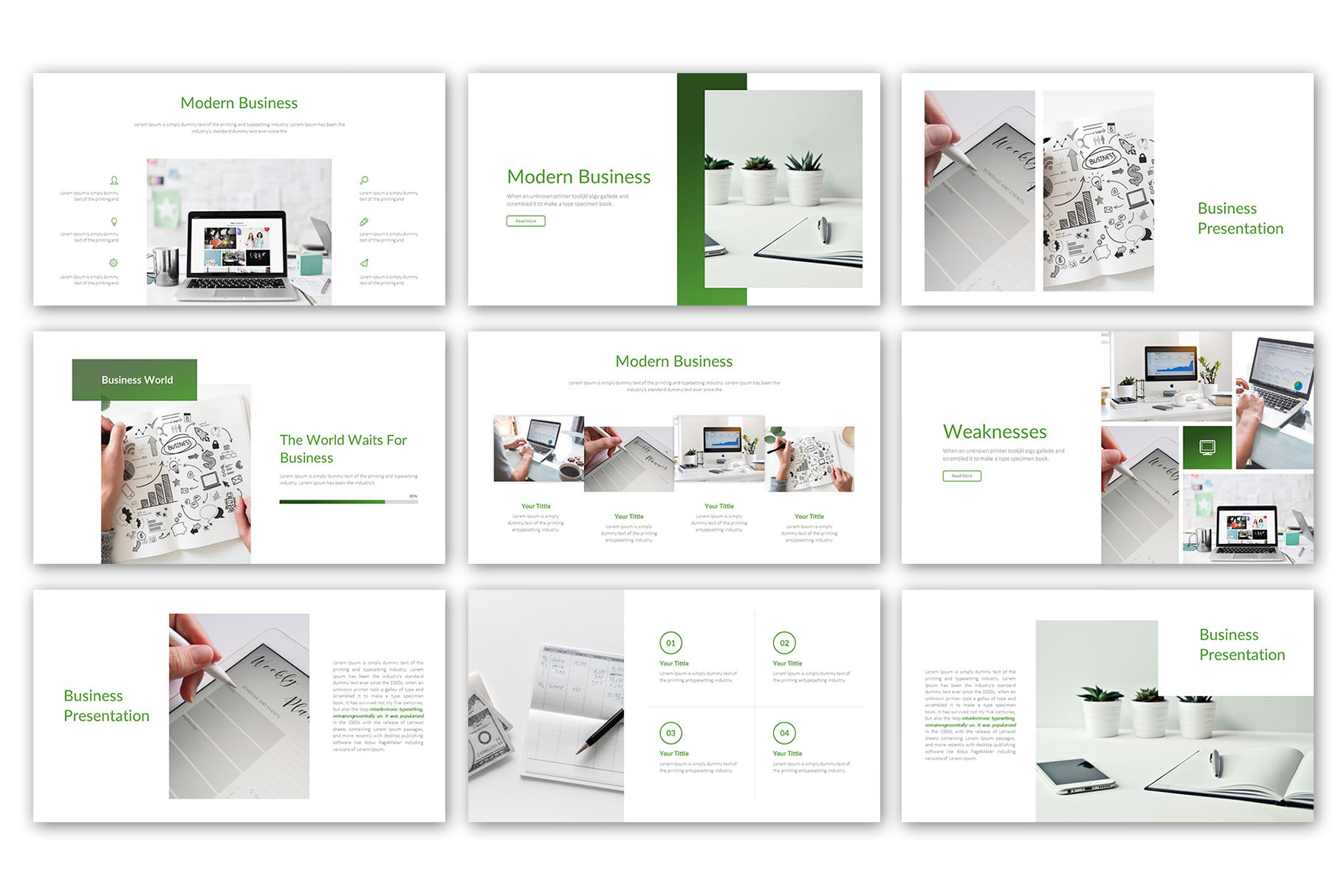 Modern Business Presentation Template example image 5