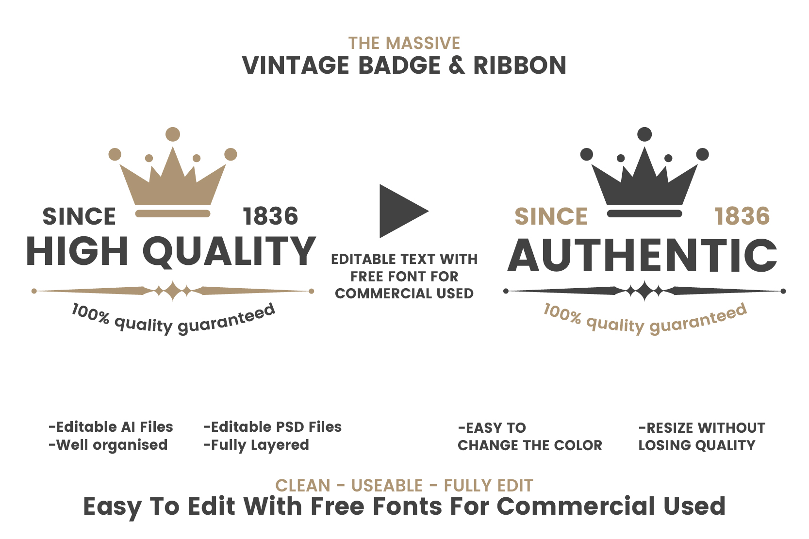 36 VINTAGE BADGE & RIBBON Vol.5 example image 2