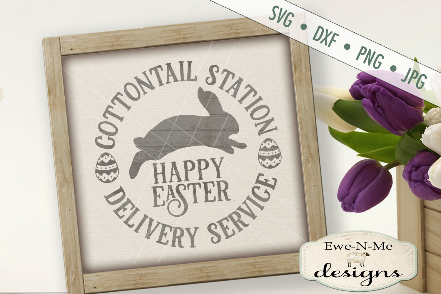Easter Cottontail Bundle Easter Bunny Rabbit SVG DXF Files example image 5