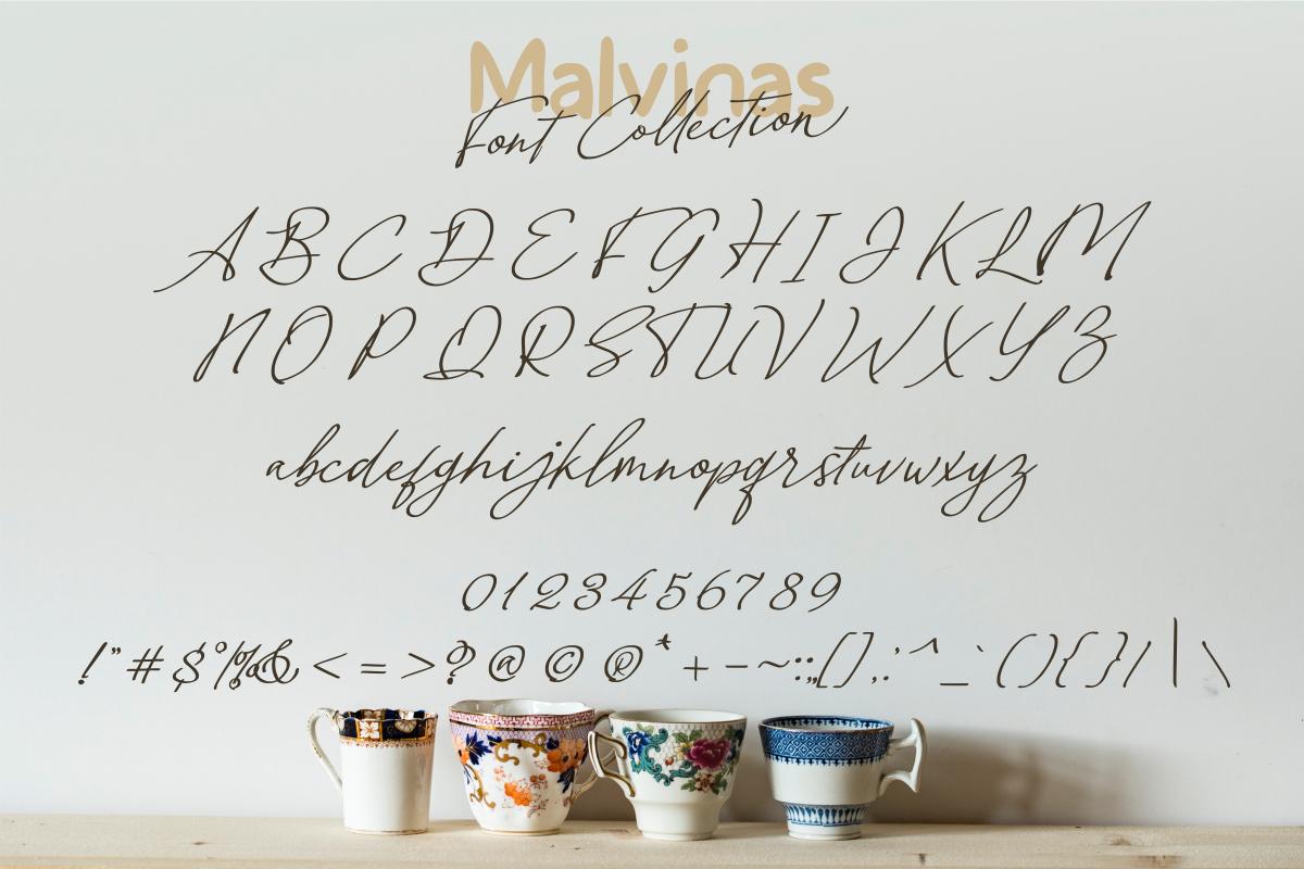 Malvinas Font Duo example image 3